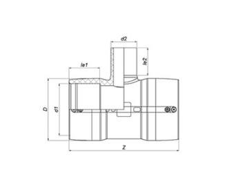 Тройник редукционный сварной Ø90 x 63 x 90 мм ПЭ100 SDR 11